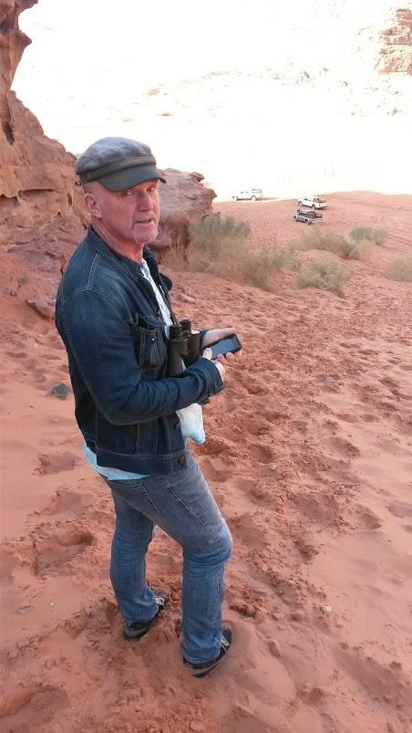 På semester i Wadi Rum, Aqaba, Jordanien