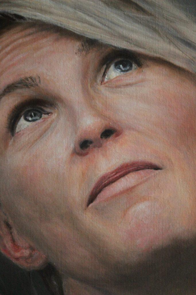 Kvinnoporträtt, olja