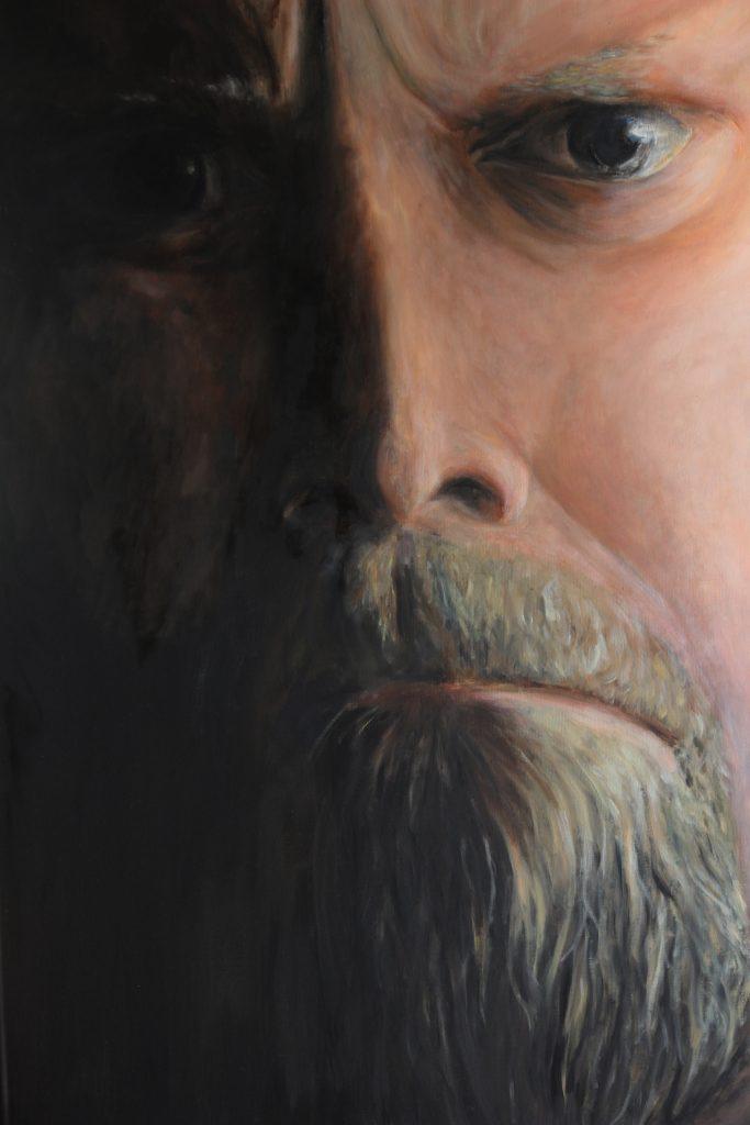Mansporträtt, olja
